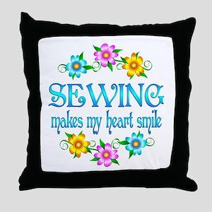 Sewing Smiles Throw Pillow