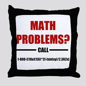 Math Problems Throw Pillow
