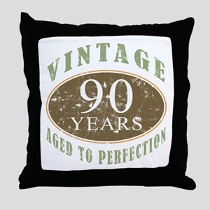 Vintage 90th Birthday Throw Pillow