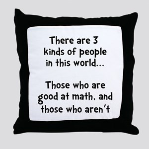 Math People Throw Pillow