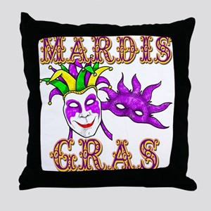 Mardis Gras Throw Pillow
