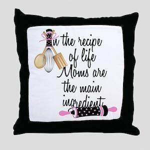 Mom Ingredient Throw Pillow