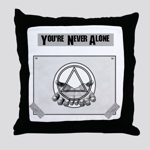Youre Never Alone Throw Pillow