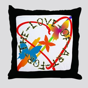 For The Love Of Art Throw Pillow
