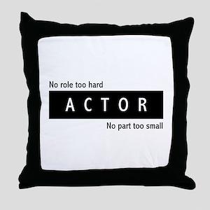 Actor Throw Pillow