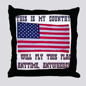 Flag2 Throw Pillow