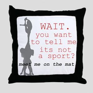 Meet Me on the Mat Throw Pillow