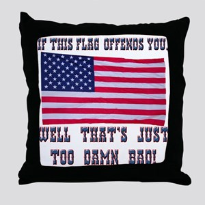 Flag3 Throw Pillow
