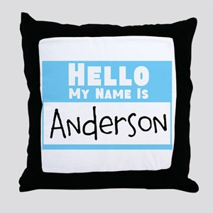 Personalized Name Tag Throw Pillow