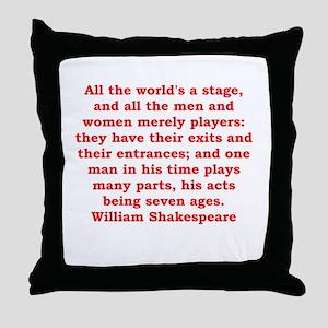 william shakespeare Throw Pillow