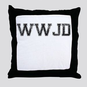 WWJD, Vintage Throw Pillow