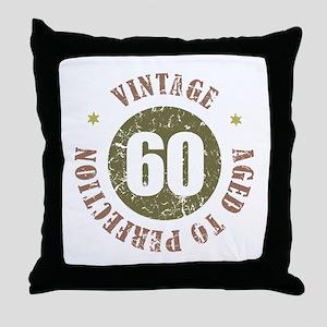 60th Vintage birthday Throw Pillow