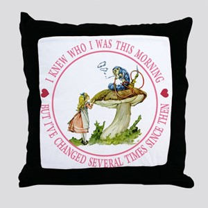 I Knew Who I Was This Morning Throw Pillow