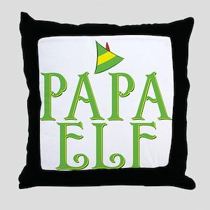 Papa Elf Throw Pillow
