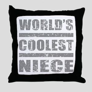 World's Coolest Niece Throw Pillow