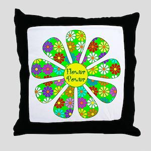 Cool Flower Power Throw Pillow