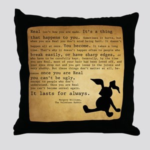 Velveteen Rabbit Print Throw Pillow