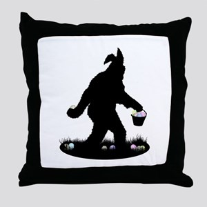 Easter Squatchin Throw Pillow