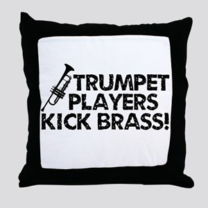 Kick Brass Throw Pillow