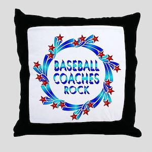 Baseball Coaches Rock Throw Pillow