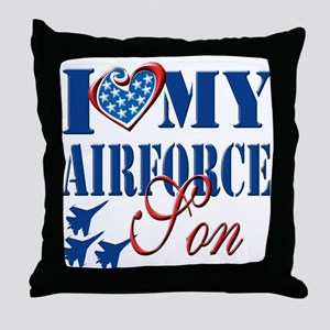I Love My Airforce Son Throw Pillow