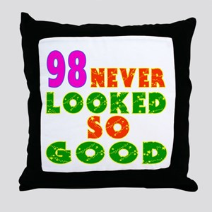 98 Birthday Designs Throw Pillow