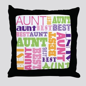 Best Aunt Design Gift Throw Pillow