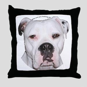 American Bulldog copy Throw Pillow
