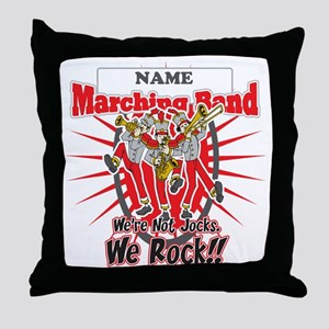 Marching Bands Rock(Red) Throw Pillow