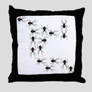 Creepy Crawly Spiders Throw Pillow