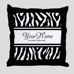 Custom Animal Print Throw Pillow