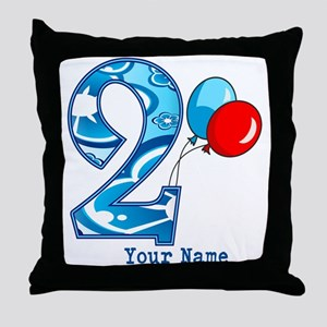2nd Birthday Personalized Throw Pillow