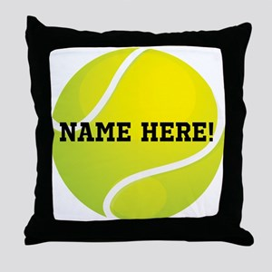 Personalized Tennis Ball Throw Pillow