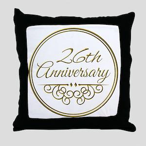 26th Anniversary Throw Pillow