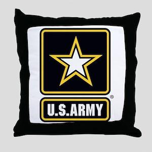 U.S. Army Gold Star Logo Throw Pillow