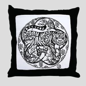 Chinese Zodiac – Tiger Throw Pillow
