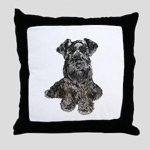 Schnauzer (gp-blk) Throw Pillow