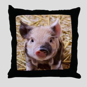 sweet little piglet 2 Throw Pillow
