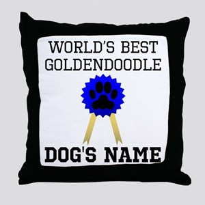 Worlds Best Goldendoodle (Custom) Throw Pillow