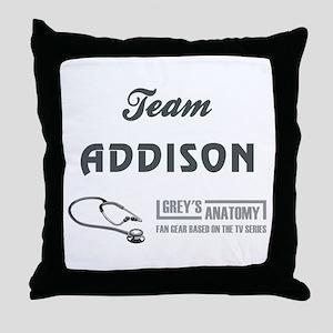 TEAM ADDISON Throw Pillow