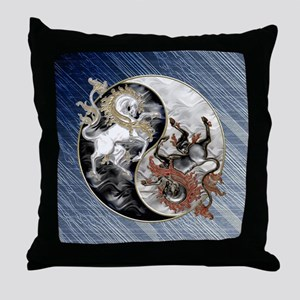 Harvest Moons Unicorns Yin Yang Throw Pillow