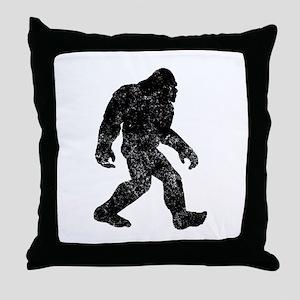 Bigfoot Silhouette Throw Pillow