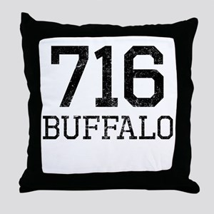 Distressed Buffalo 716 Throw Pillow