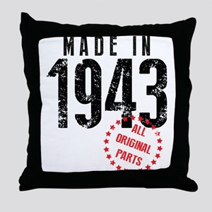 Made In 1943, All Original Parts Throw Pillow