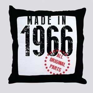 Made In 1966, All Original Parts Throw Pillow