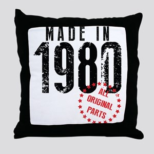 Made In 1980, All Original Parts Throw Pillow