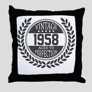 Vintage 1958 Aged To Perfection Throw Pillow