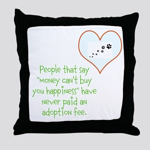 adoption happiness Throw Pillow
