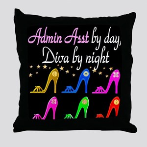 ADMIN ASST Throw Pillow