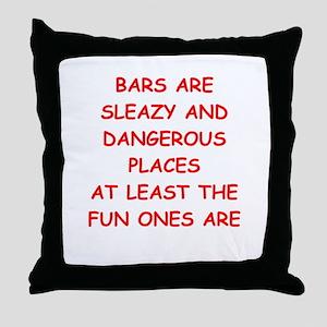 bars Throw Pillow